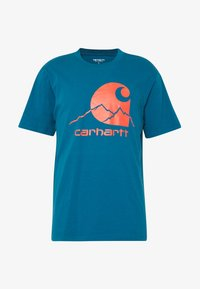 Carhartt WIP - OUTDOOR  - Print T-shirt - moody blue/clockwork - 3