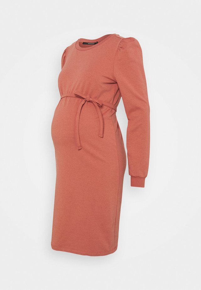 DRESS  - Korte jurk - marsala