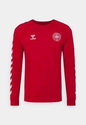 DÄNEMARK DBU FAN 2020 TEE - Oblečení národního týmu - tango red