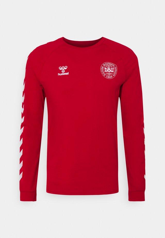 DÄNEMARK DBU FAN 2020 TEE - National team wear - tango red
