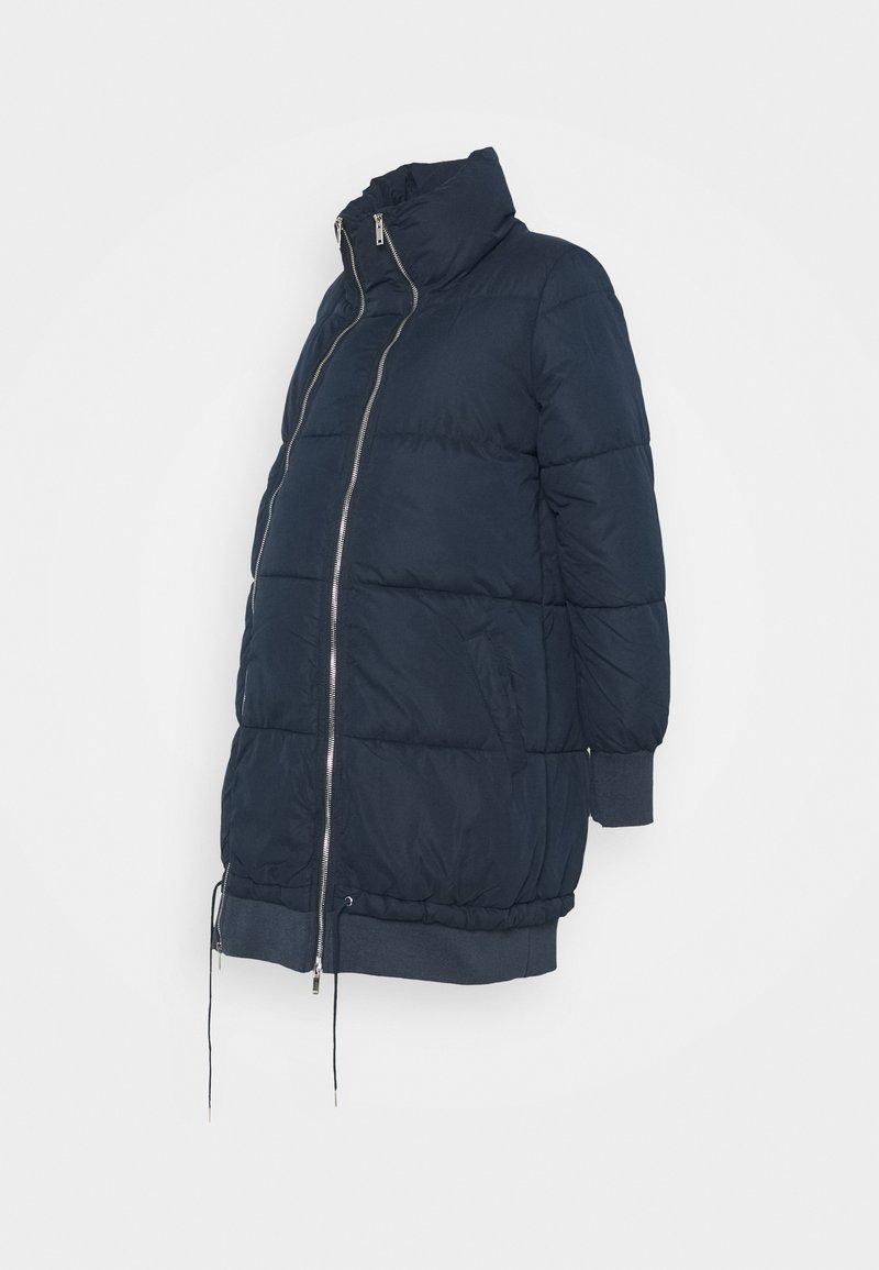 MAMALICIOUS - MLLINE 2 IN 1 LONG COAT  - Winter coat - navy blazer