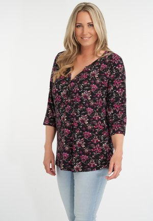 Blouse - pink / red