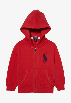 HOOD - Felpa aperta - evening post red