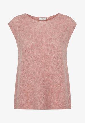 KAETRI - Basic T-shirt - cameo brown melange