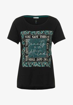 MIT PARTPRINT - Print T-shirt - schwarz