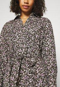 Selected Femme Tall - SLFSOLVEIG SHIRT DRESS - Abito a camicia - black - 5
