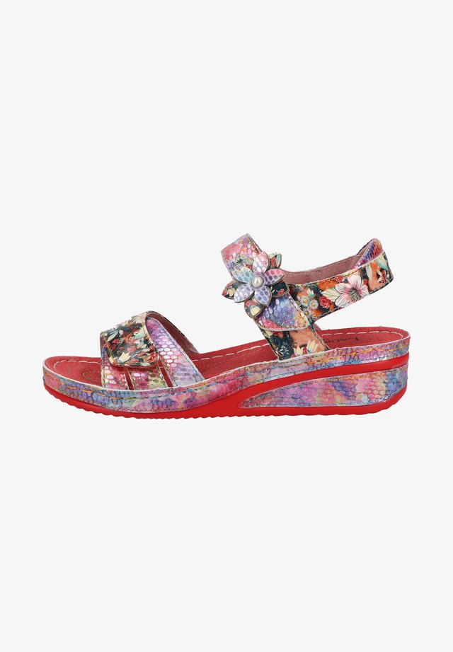 Sandaler m/ kilehæl - rouge