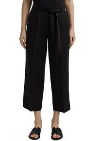 Esprit Collection - MIT BINDEGÜRTEL - Trousers - black - 5