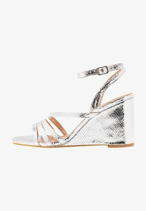 WIDE FIT AVA - High heeled sandals - silver