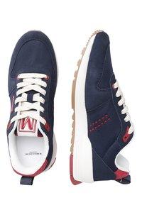 M. Moustache - DANIEL - Sneakers laag - navy blue red - 1