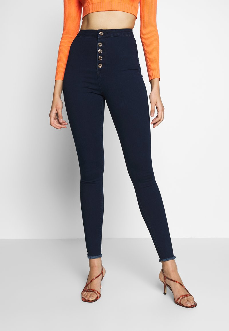 Missguided Tall - VICE BUTTON UP - Jeans Skinny - blue