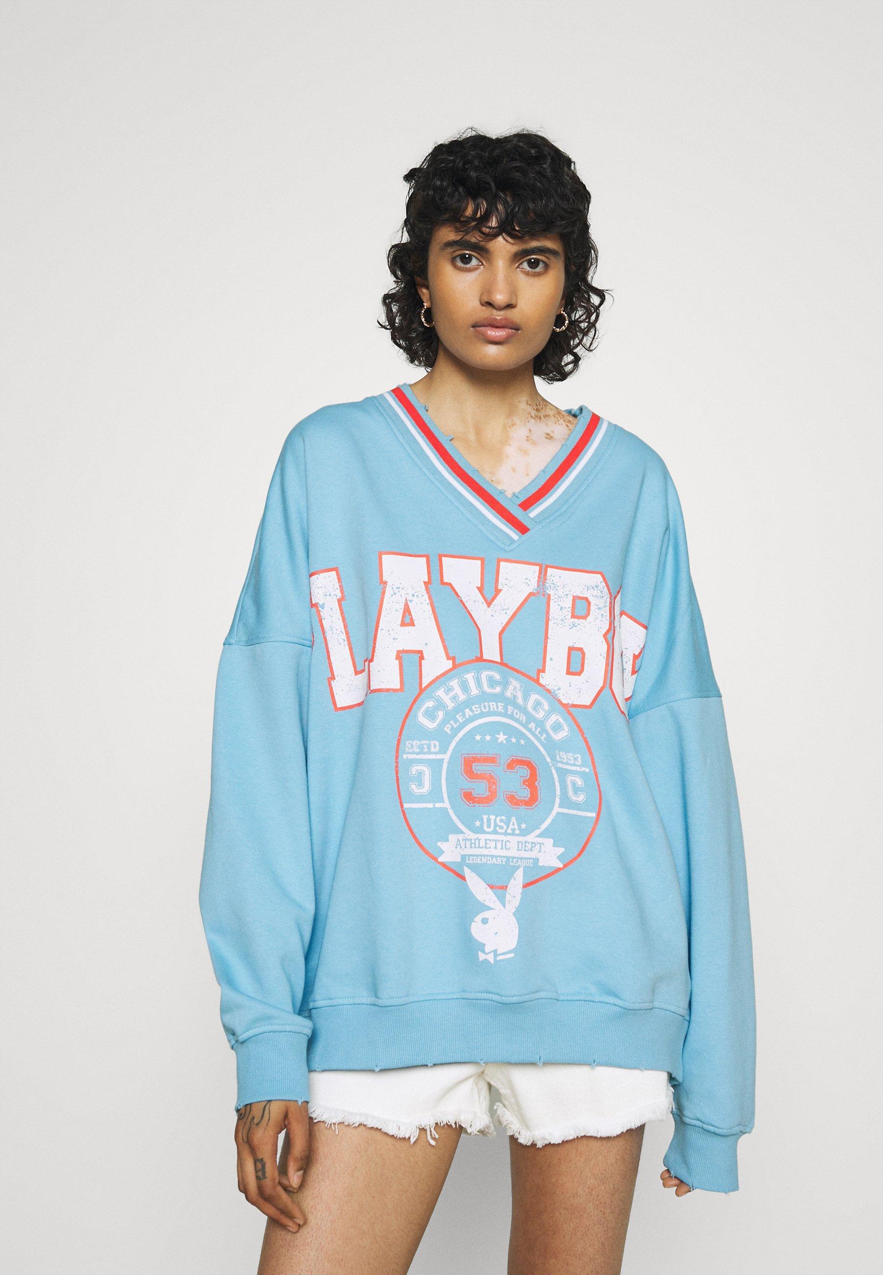 Women PLAYBOY VARSITY GRAPHIC V NECK - Sweatshirt