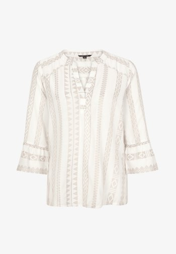Blouse - beige embroidery
