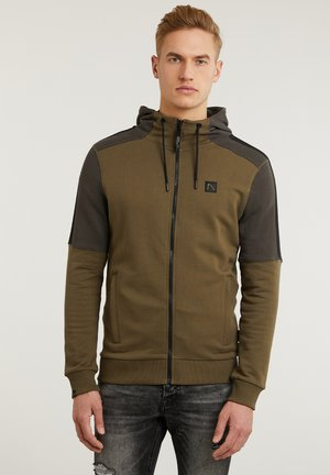 CANYON - Zip-up hoodie - green