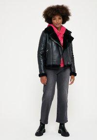 LolaLiza - Faux leather jacket - black - 1