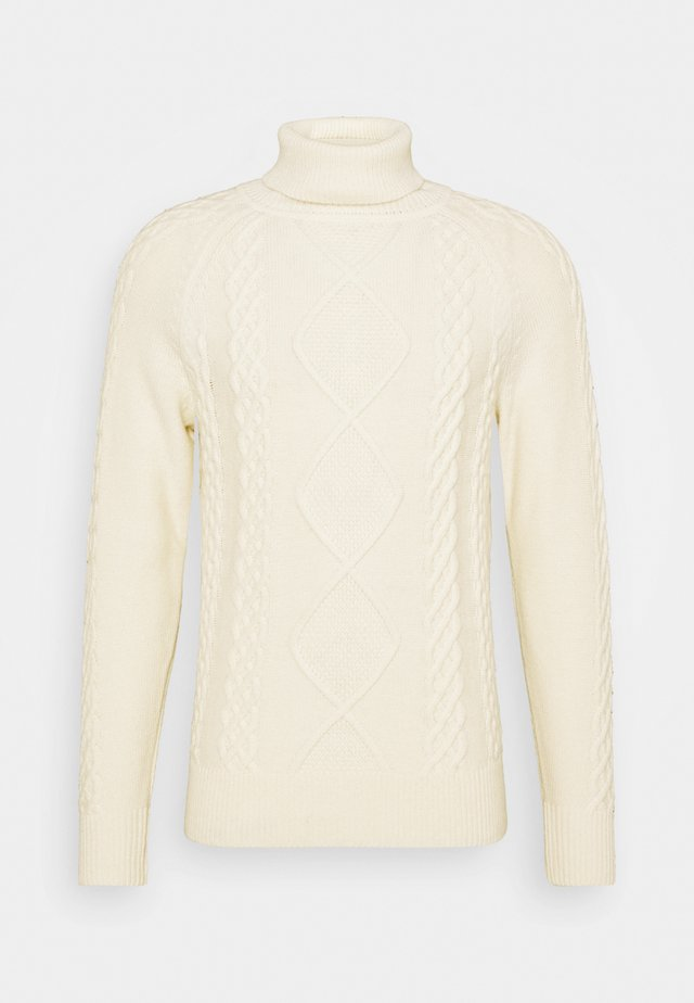 ICON CABLE ROLL NECK - Jumper - white