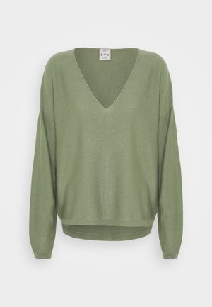 Pullover - soft olive