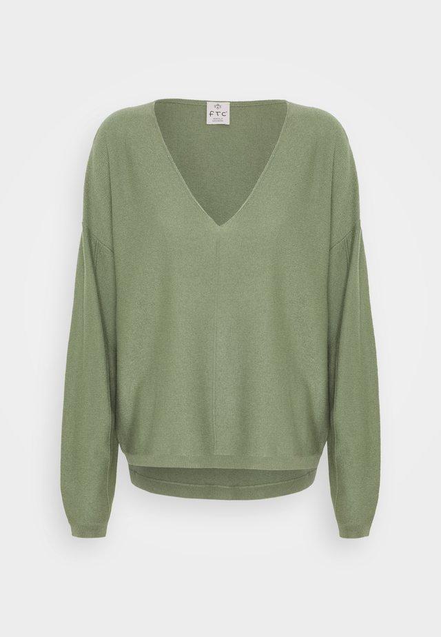 Sweter - soft olive