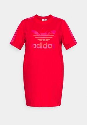 TEE DRESS - Jerseyjurk - vivid red