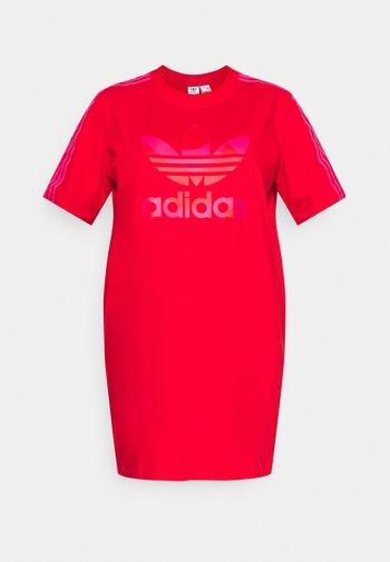 TEE DRESS - Jerseykjole - vivid red