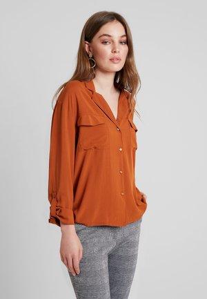 Button-down blouse - caramel cafe