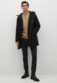 Mango - PATRICK - Slim fit jeans - black denim - 1