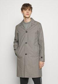 The Kooples - TARTAN COAT - Classic coat - black/ecru - 0