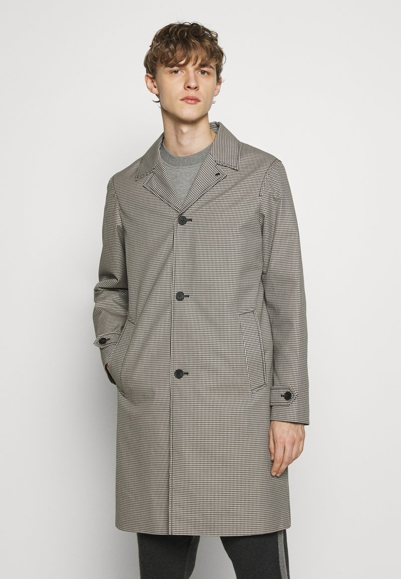 The Kooples - TARTAN COAT - Classic coat - black/ecru