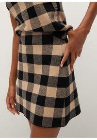 Mango - SCARLATA - A-line skirt - marron moyen - 4