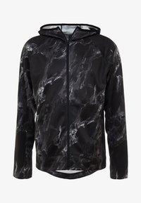 Nike Performance - SPOTLIGHT HOODIE FULL ZIP MARBLE - Training jacket - black/black - 3