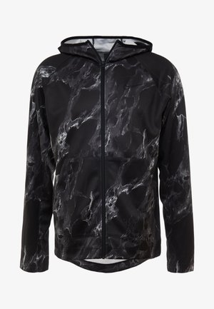 SPOTLIGHT HOODIE FULL ZIP MARBLE - Training jacket - black/black