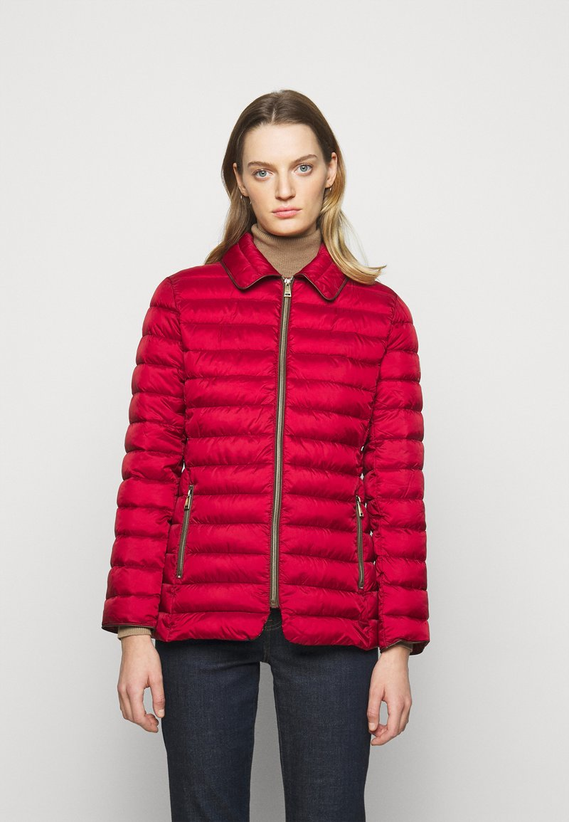 Lauren Ralph Lauren - MATTE FINISH SHORT JACKET - Light jacket - red