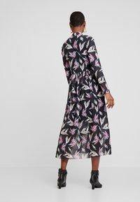 TOM TAILOR DENIM - PRINTED MESH DRESS - Day dress - black abstract flower print grey - 2