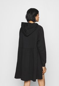 Monki - MALIN HOODIE DRESS - Day dress - black dark unique - 2