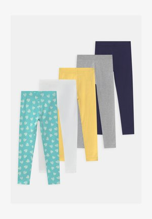 5 PACK - Leggingsit - grey/blue/yellow