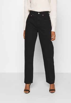 HIGH WAIST - Relaxed fit -farkut - black