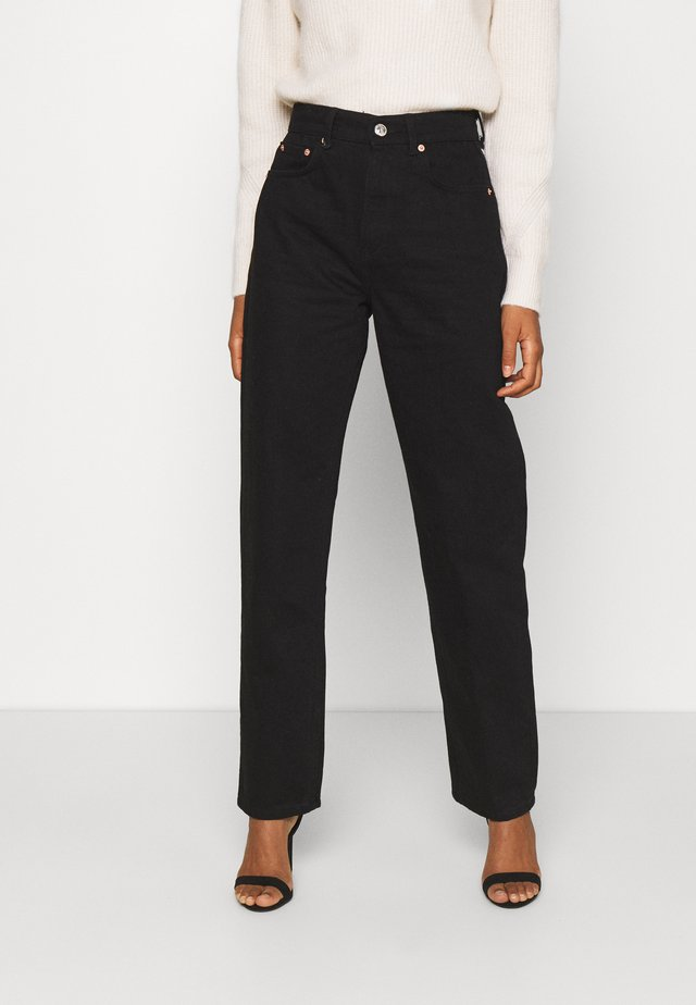 HIGH WAIST - Jeans relaxed fit - black