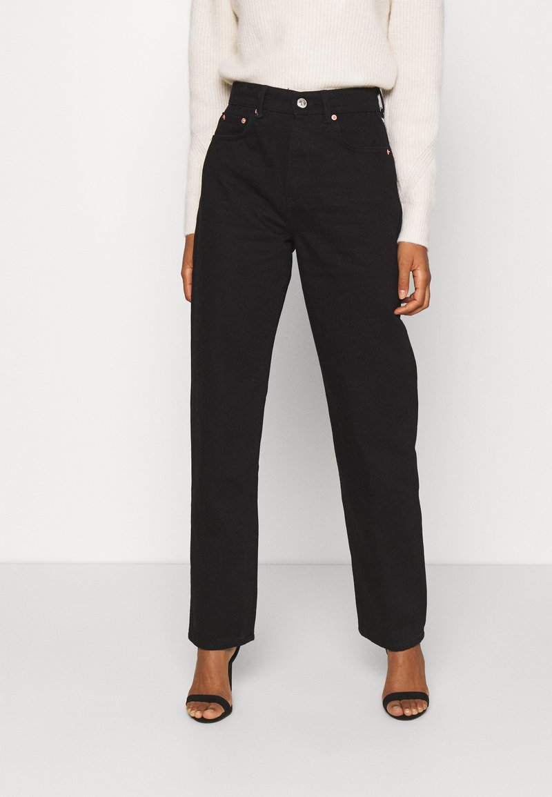 Gina Tricot - 90S HIGH WAIST - Jeans baggy - black