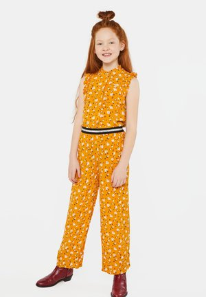 WE FASHION MEISJES BLOUSE MET BLOEMENDESSIN EN VOLANT - Camicia - ochre yellow