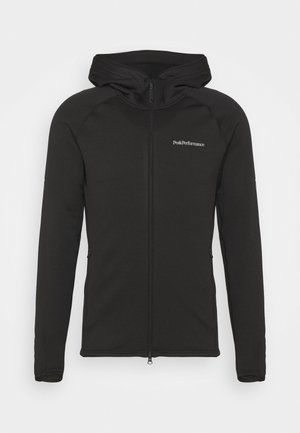 CHILL ZIP HOOD - Fleecejas - black