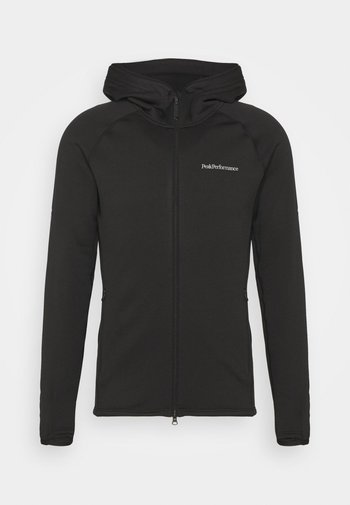 CHILL ZIP HOOD - Fleece jacket - black