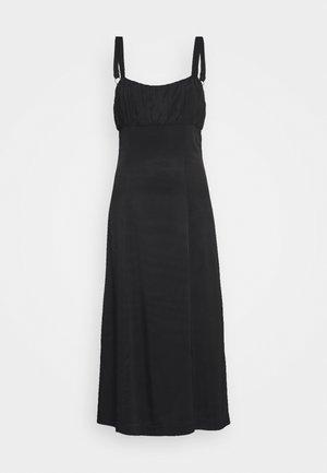 ROMANCER GATHER BRA MIDI - Day dress - black