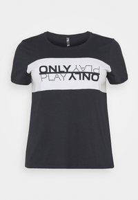 ONLY Play - ONPMAIKA LIFE REGULAR   - T-shirt print - blue graphite/white/blue graph - 0