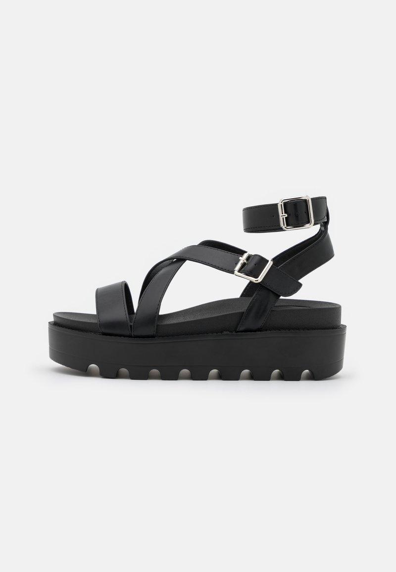 Koi Footwear - VEGAN CERES GLADIATOR  - Sandalen met plateauzool - black