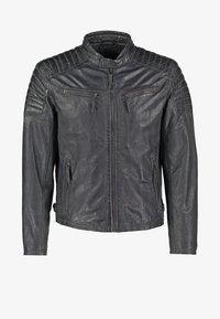 CHESTER - Leather jacket - dunkelgrau