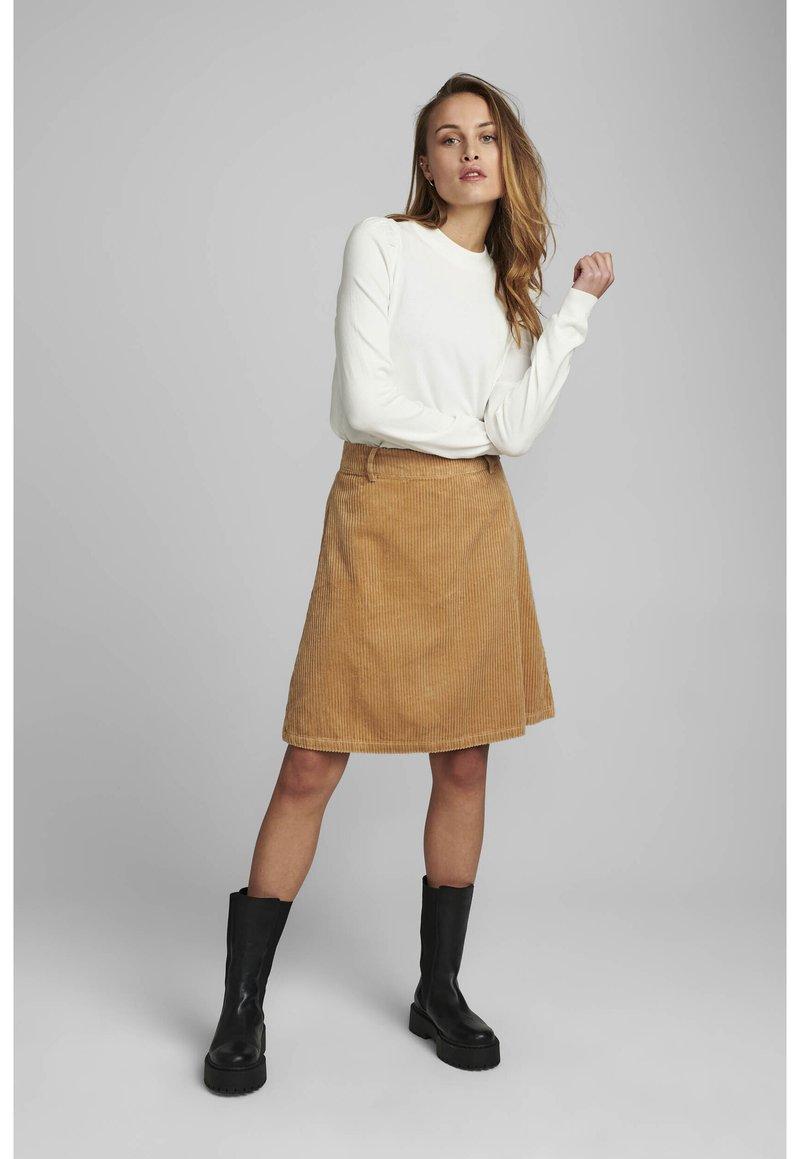 Nümph - NUMEGHAN CALA SKIRT - A-line skirt - tannin