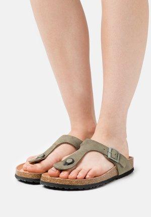 T-bar sandals - olive