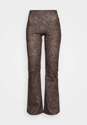 ONLFEVER FLARED PANTS  - Kalhoty - black/brown