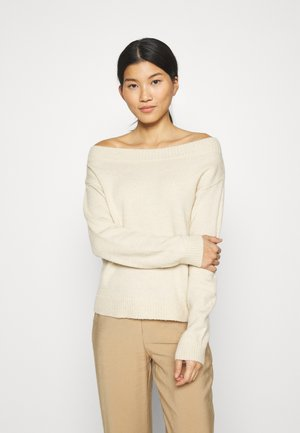 BOAT NECK JUMPER - Jumper - off-white