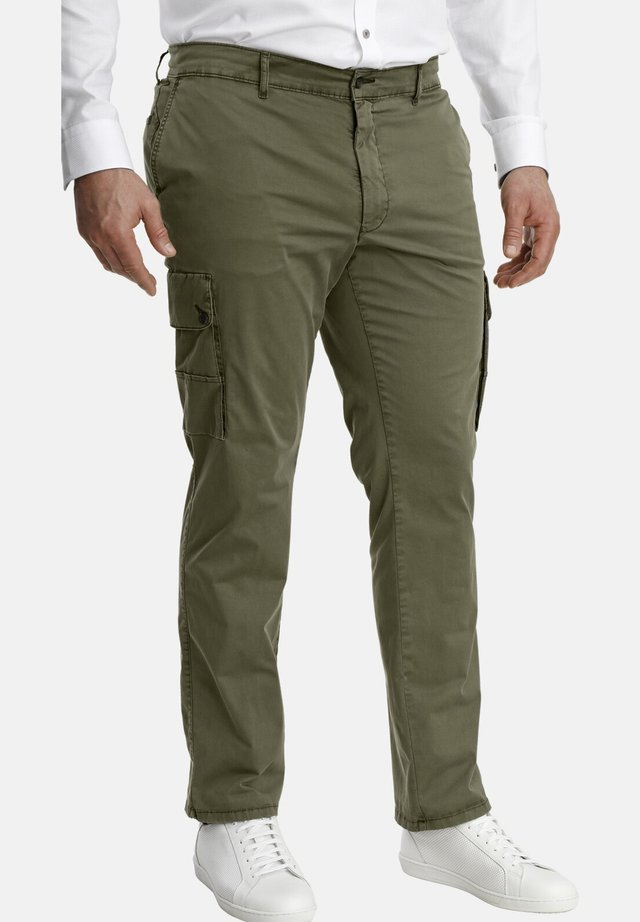 BARON DAVY - Cargo trousers - olive